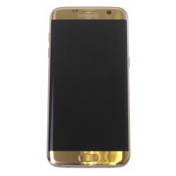 Samsung Galaxy S7 Edge G935F - LCD displej + dotyková plocha + rám zlatá - originál