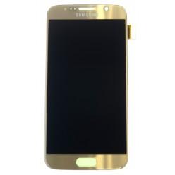 Samsung Galaxy S6 G920F - LCD displej + dotyková plocha zlatá - originál