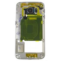 Samsung Galaxy S6 Edge G925F - Rám středový černá - originál
