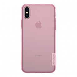 Apple iPhone X - Nillkin Nature TPU cover pink