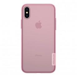 Apple iPhone X - Nillkin Nature TPU cover pink
