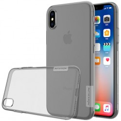 Apple iPhone X - Nillkin Nature TPU pouzdro šedá