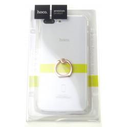 hoco. Apple iPhone 7 Plus, 8 Plus transparent cover with finger holder pink
