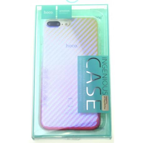 hoco. Apple iPhone 7 Plus, 8 Plus transparent cover lattice pink