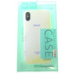 hoco. Apple iPhone X puzdro transparentné lattice biela