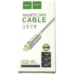 hoco. U16 magnetický adsorpčný nabíjací kábel micro strieborná