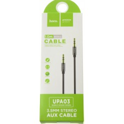 hoco. 3.5mm stereo aux cable gray
