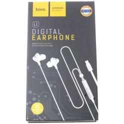 hoco. L1 lightning earphone white
