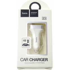 hoco. Z3 LCD dual USB car charger white