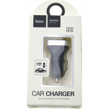 hoco. Z3 LCD dual USB car charger black