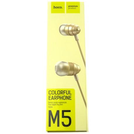 hoco. M5 earphone gold