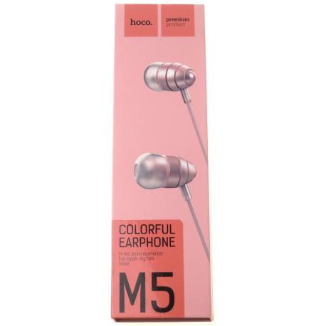 hoco. M5 earphone pink