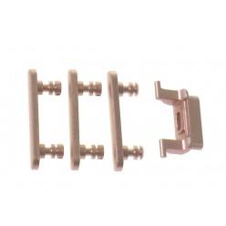 Apple iPhone 7 - Krytky bočných tlačidiel ružová