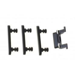 Apple iPhone 7 - Krytky bočných tlačidiel jet black