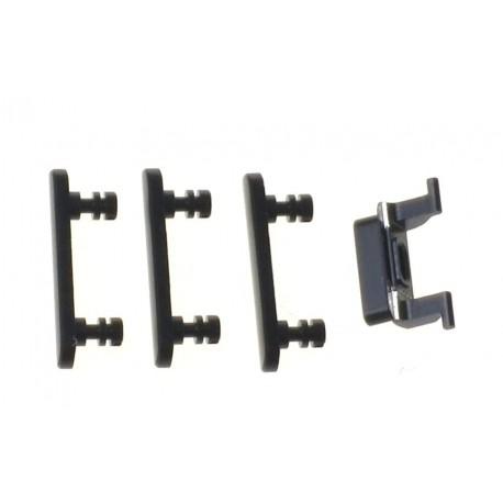 Apple iPhone 7 Krytky bočných tlačidiel jet black