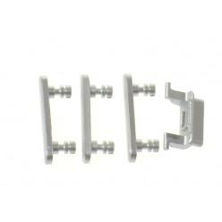 Apple iPhone 7 - Krytky bočních tlačítek stříbrná