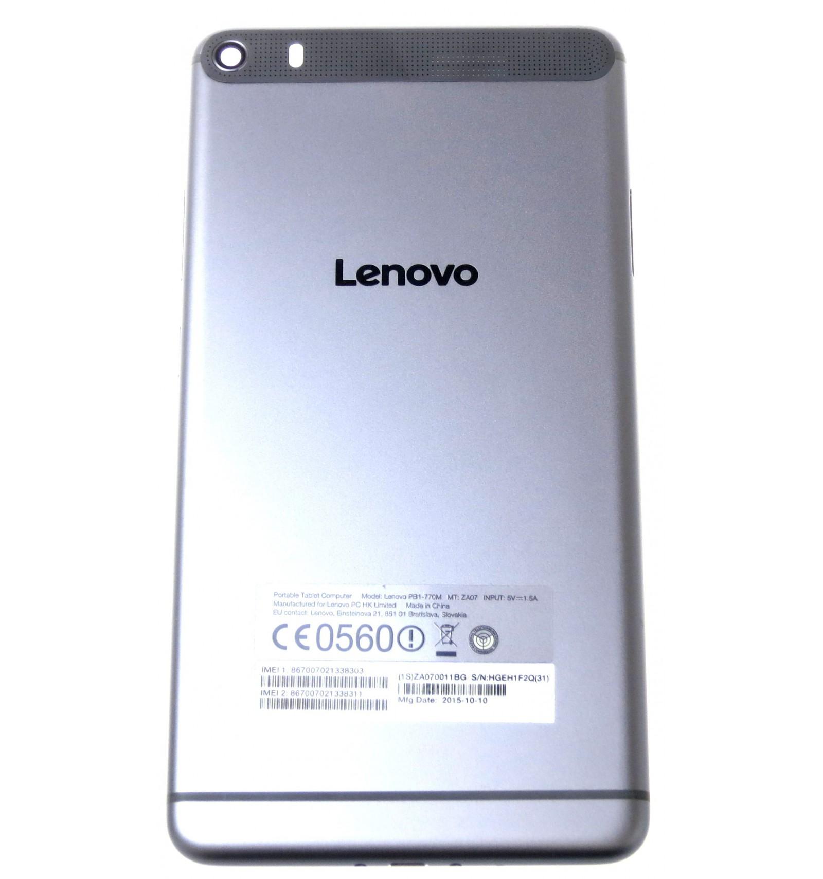 Battery Cover Black Original For Lenovo Phab Plus Idea Tab A3500 Blue