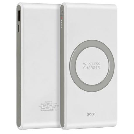 hoco. B32 wireless powerbank 8000mAh white