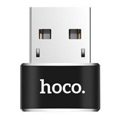 hoco. UA6 konvertor USB na typ-c čierna