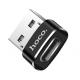 hoco. UA6 convertor USB to typ-c black