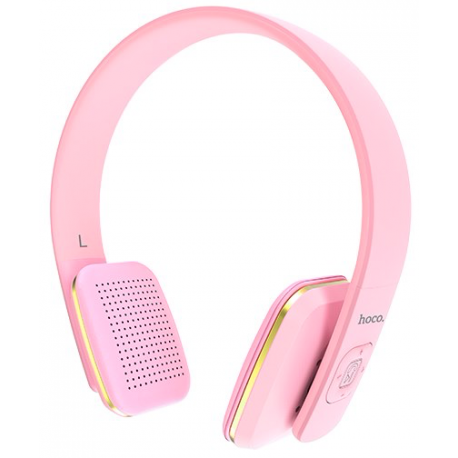 hoco. W9 wireless headphone pink