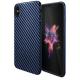 hoco. Apple iPhone X Plastic cover blue carbon