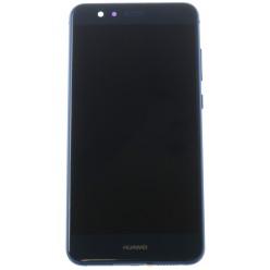 Huawei P10 Lite - LCD displej + dotyková plocha + rám + malé díly modrá - originál