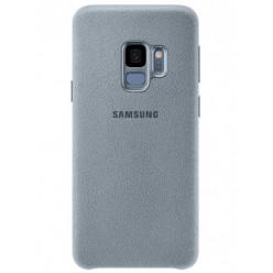 Samsung Galaxy S9 Plus G965F alcantara puzdro bledomodrá originál