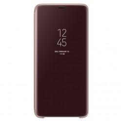 Samsung Galaxy S9 Plus G965F - Clear view standing pouzdro zlatá - originál