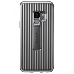 Samsung Galaxy S9 G960F - Protective standing cover silver - original