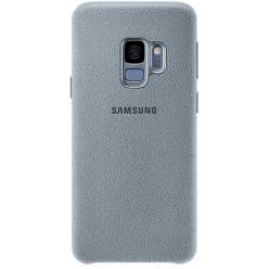 Samsung Galaxy S9 G960F alcantara puzdro bledomodrá originál