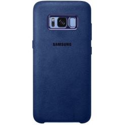 Samsung Galaxy S8 Plus G955F alcantara puzdro modrá originál
