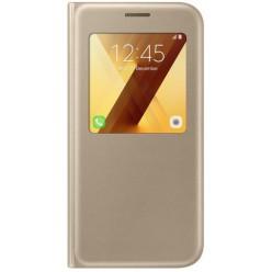 Samsung Galaxy A5 (2017) A520F - S view pouzdro zlatá - originál