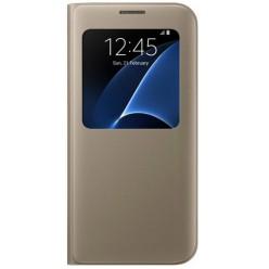Samsung Galaxy S7 Edge G935F s view puzdro zlatá originál