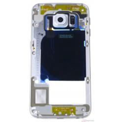 Samsung Galaxy S6 Edge G925F - Rám stredový strieborná - originál – vrátené do 14 dní