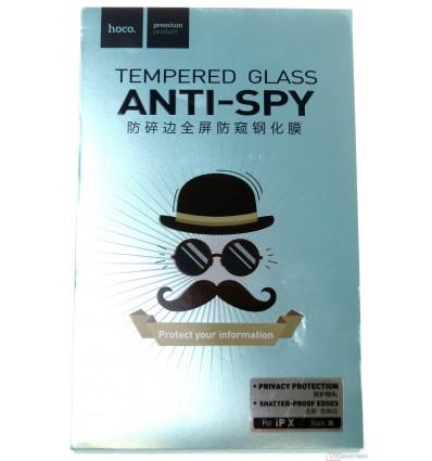 hoco. Apple iPhone X anti-spy tempered glass black