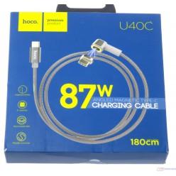 hoco. U40C magnetický adsorpční nabíjecí kabel typ-c šedá