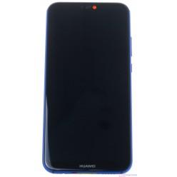 Huawei P20 Lite LCD displej + dotyková plocha + rám + malé diely modrá - originál