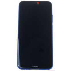 Huawei P20 Lite LCD + touch screen + frame + small parts blue - original