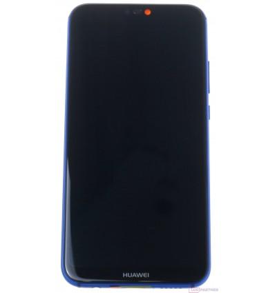 Huawei P20 Lite - LCD displej + dotyková plocha + rám + malé diely modrá - originál