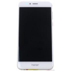 Huawei Honor 8 Dual Sim (FRD-L19) - LCD displej + dotyková plocha + rám + malé diely biela - originál
