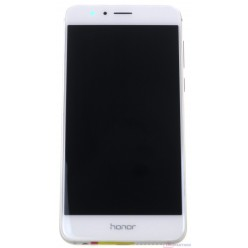 Huawei Honor 8 Dual Sim (FRD-L19) - LCD + touch screen + frame + small parts white - original