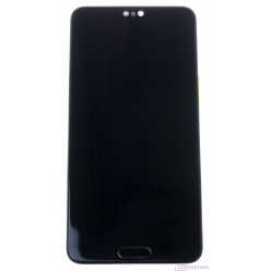 Huawei P20 - LCD displej + dotyková plocha + rám + malé diely čierna - originál