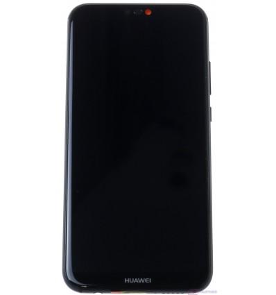 Huawei P20 Lite - LCD displej + dotyková plocha + rám + malé diely čierna - originál