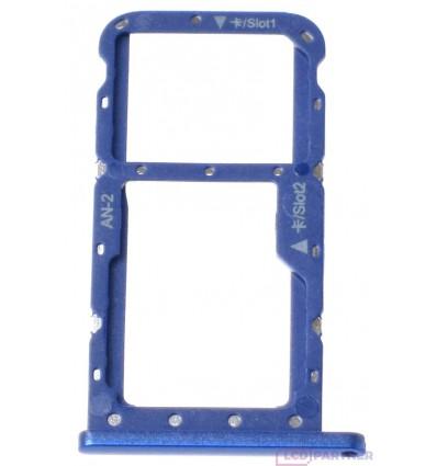 Huawei P20 Lite - Držiak sim a microSD modrá - originál