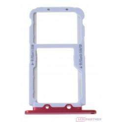 Huawei Honor View 10 držiak sim a microSD červená originál