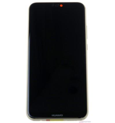Huawei P20 Lite - LCD displej + dotyková plocha + rám + malé diely zlatá - originál