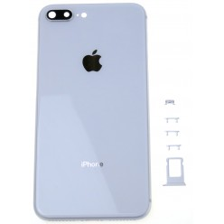 Apple iPhone 8 Plus battery cover + middle frame white OEM