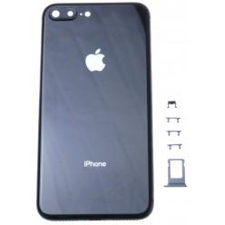 Apple iPhone 8 Plus kryt zadný + rám stredový čierna OEM
