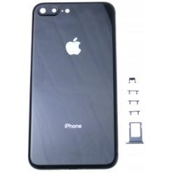 Apple iPhone 8 Plus battery cover + middle frame black OEM